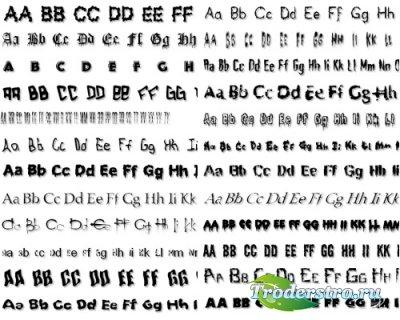 Коллекция дизайнерских шрифтов (Terror Fonts)