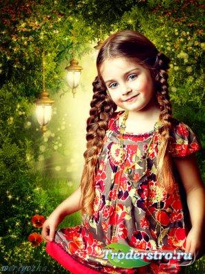 Детский шаблон - Словно в чудесной сказке