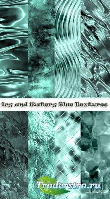 Ледяные и водные бесшовные текстуры