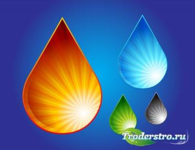 Цветные капли Vector Drops