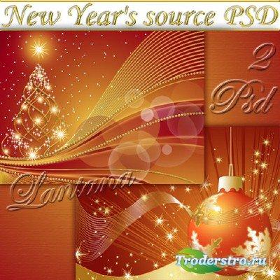 PSD исходники - Новогодняя мишура  № 4