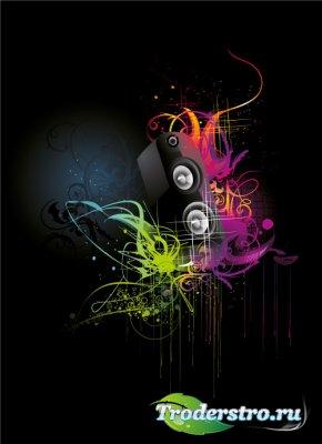 Музыкальная вечеринка (Music party vector)