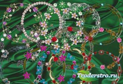 Вырезы для рамок - круглые и цветочные