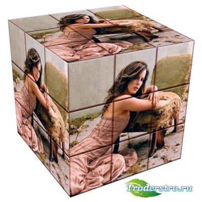 Экшен для фотошопа - Кубик Рубик