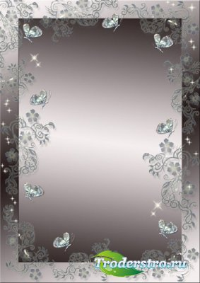 Рамка для фото - Хрустальные бабочки