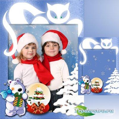 Новогодняя рамка для Фотошоп - Зимняя сказка