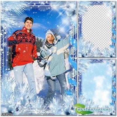 Зимова рамка для фотошопу мороз і