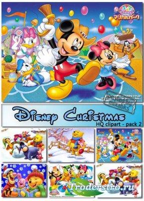 Новый год с героями мультфильмов Диснея (HQ clipart)
