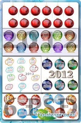 6 Новогодних календарных сеток на 2012 год
