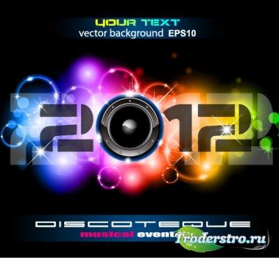 Музыкальный логотип - 2012 (Вектор EPS10)
