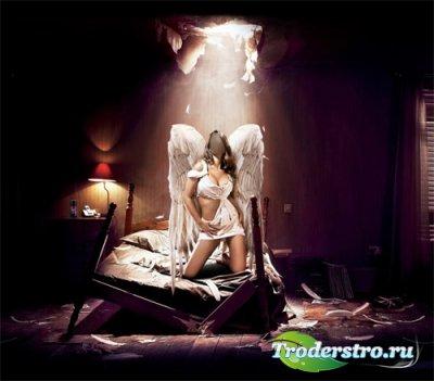 Женский шаблон - ангел хранитель