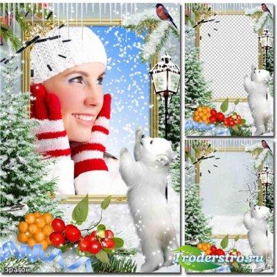 Рамка для фотошопа – Зимнее чудо