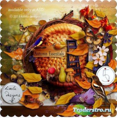 Роскошный осенний скрап-набор - Осенние Сущности