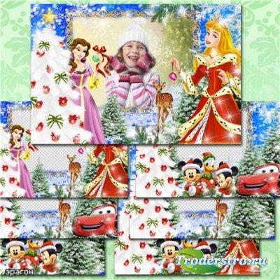 Детские новогодние рамки для фотошопа – Праздник приближается