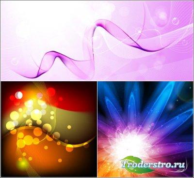 Абстрактный светлый и темные фоны (Vector Backgrounds)