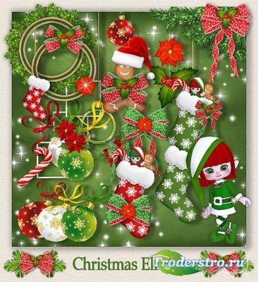 Новогодний скрап-набор - Рождественский Эльф