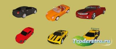 Векторный клипарт - 6 Цветные автомобили