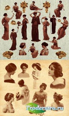 Кисти для Photoshop - Набор женщин в ретро стиле
