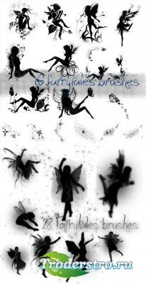 Кисти для Photoshop - Сказочные ангелы