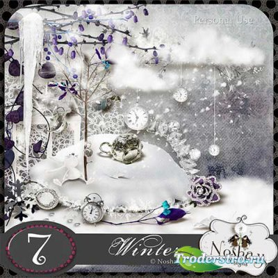 Интересный зимний скрап-набор - Зима. Scrap - Winter