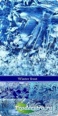 Зимние морозные узоры - фоны