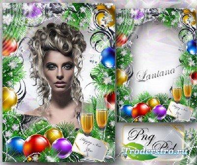 Рамка для фото - Нарядили елку в праздничное платье, в пестрые гирлянды, в  ...