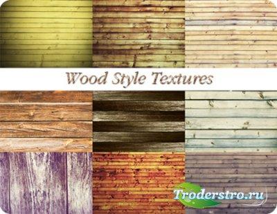 Деревянные текстуры для фотошопа из досок