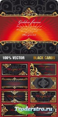 Векторный клипарт - Черные карточки
