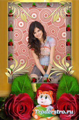 Фотошоп рамка с розами