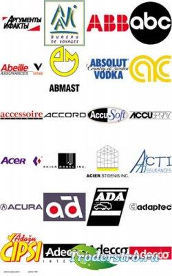 Цветные векторные логотипы A