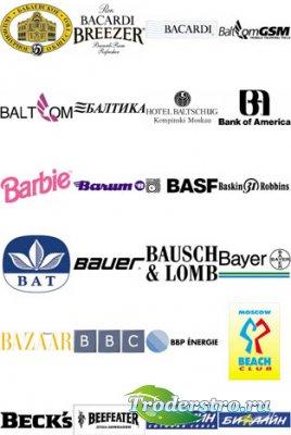 Цветные векторные логотипы B C