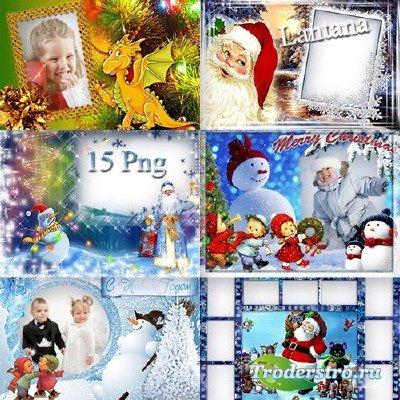Детские рамочки - Новый Год стучится в дверь - открывай ему скорей
