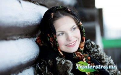 Шаблон для фото Деревенская красавица