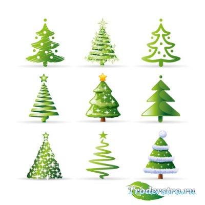 Зеленые елки (Вектор)