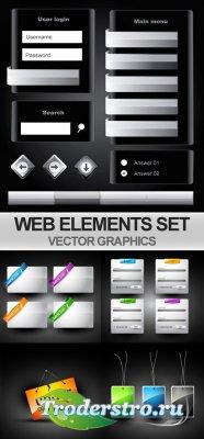 Векторные веб элементы