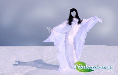 Шаблон для монтажа в Photoshop - Снежная королева