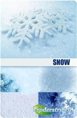 Снег и снежинки - фоны (HQ)