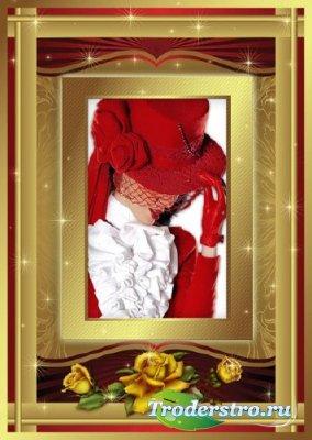 Женская рамка - Золото искрится