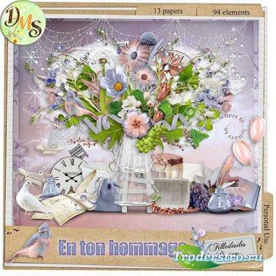Нежный цветочный скрап-набор - Это множество цветов. Scrap - En ton hommage