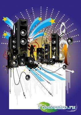 Музыкальный постер (Вектор)