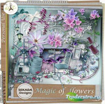 Цветочный скрап-набор - Волшебство цветков. Scrap - Magic of flowers