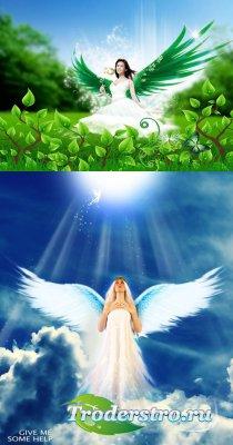 PSD-исходники - Ангелы