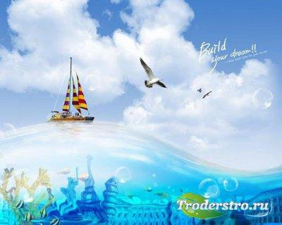 PSD-исходники - Путешествия по миру