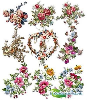 Великолепные цветочные композиции (PSD)