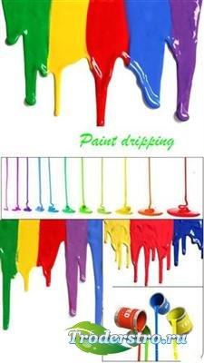 Потеки краски - фоны