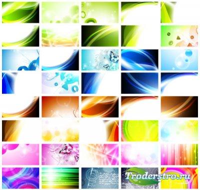 Цветные абстрактные фоны для бизнес карт (Вектор)