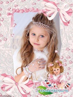 Детская рамка для девочки - Кукла