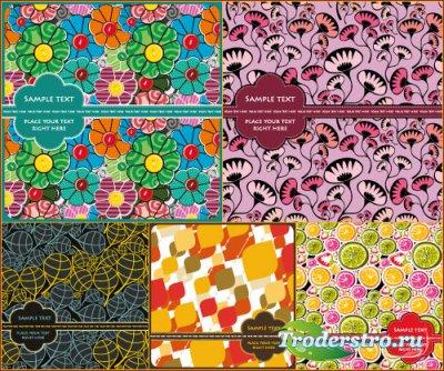 Красочные фоны - открытки (Вектор)