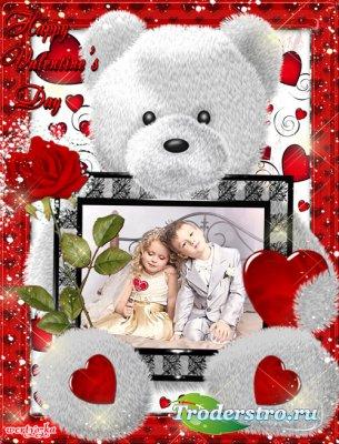 Романтическая рамка - Пусть день святого Валентина будет праздником нашего  ...