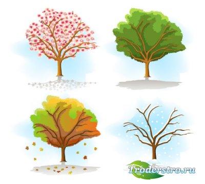 Дерево времена года (Вектор)